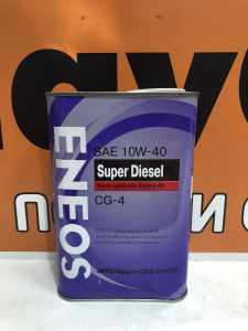 Масло моторное Eneos Super Diesel 10W-40 п/синт. API CG-4 1л